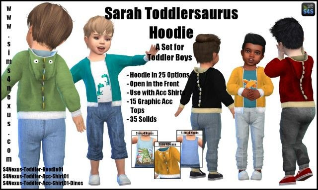 Sarah Toddlersaurus Hoodie by Sims4Nexus