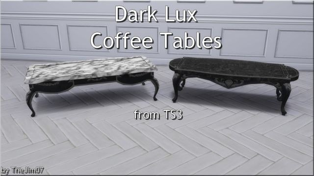 Dark Lux Coffee Tables from TS3 by TheJim07