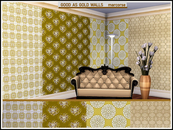 Good as Gold Walls by marcorse