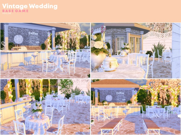 Vintage Wedding by Pralinesims