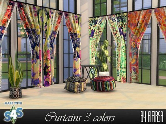 Curtains 3 colors by Aifirsa