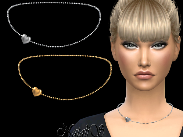 NataliS_Heart chain necklace