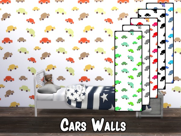 Cars Wall by modelsims4