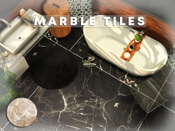 Marble Tiles by Pralinesims