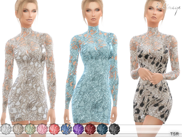 Sequin Mini Dress by ekinege