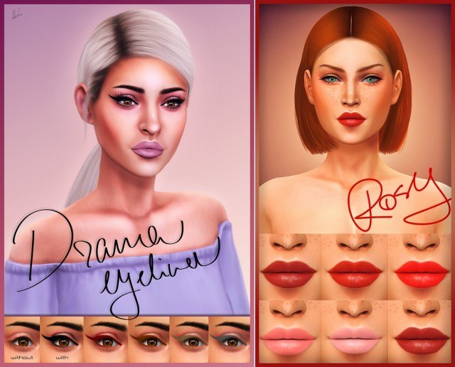 Rosy Red Lipstick & Drama Winged Eyeliner by Katverse