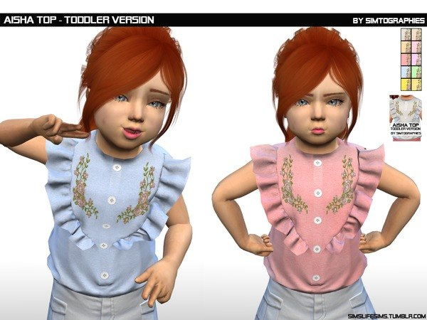 Aisha Top (Toddler Version) by simtographies