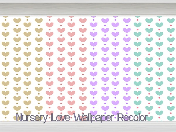 Nursery Love Wallpaper Recolor by Beatrice_e