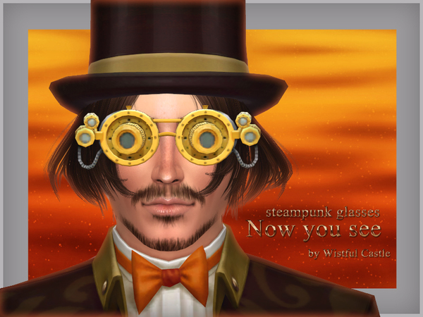 Now you see - steampunk glasses by WistfulCastle