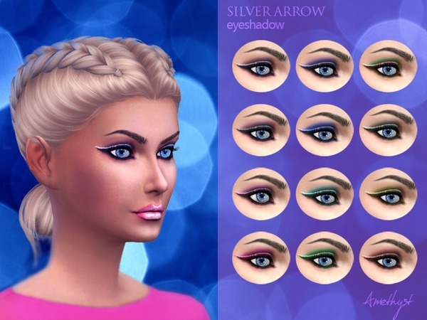 Silver arrow, eyeshadow by amethyst dragon