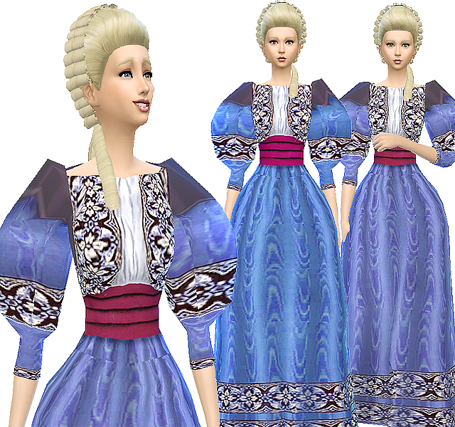 AAS 1890s dress conversion by Atomic-sims