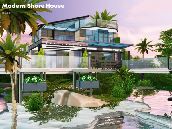 Modern Shore House by Pralinesims