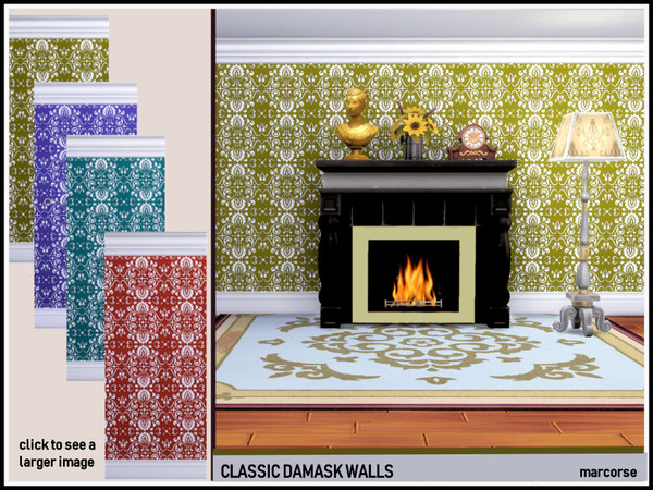 Classic Damask Walls by marcorse
