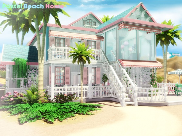 Pastel Beach Home by Pralinesims