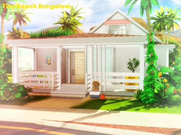 Tiny Beach Bungalow by Pralinesims