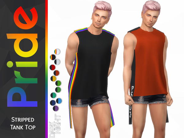 Pride Collection-Stripped Tank Top by DarkNighTt