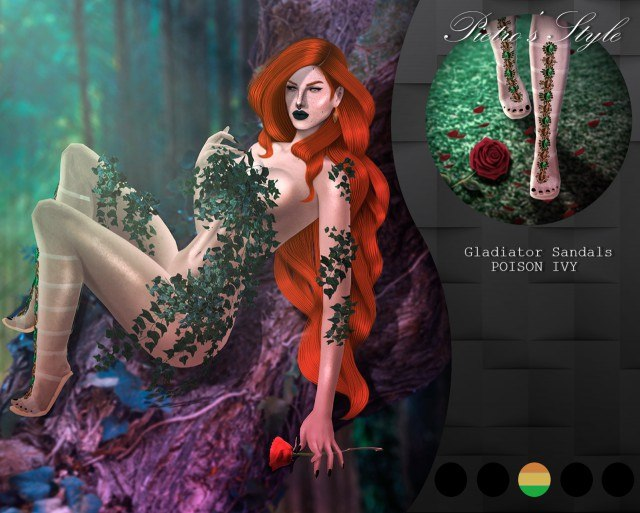 GLADIATOR SANDALS POISON IVY by pietrosstyle