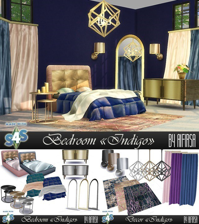Indigo Bedroom by Aifirsa