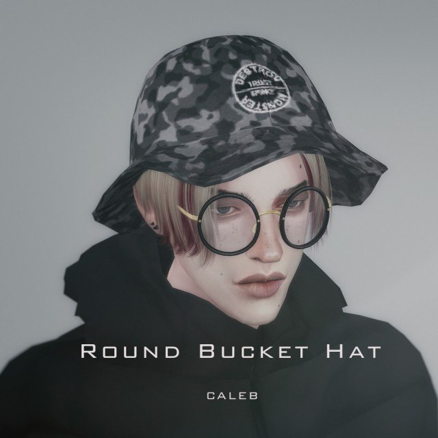 Round bucket hat by CALEB