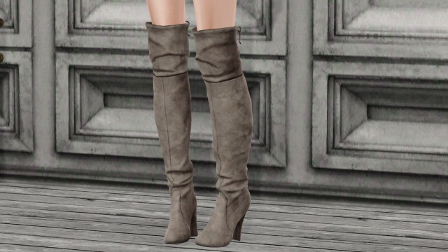 Suede hight boots by hff-sims