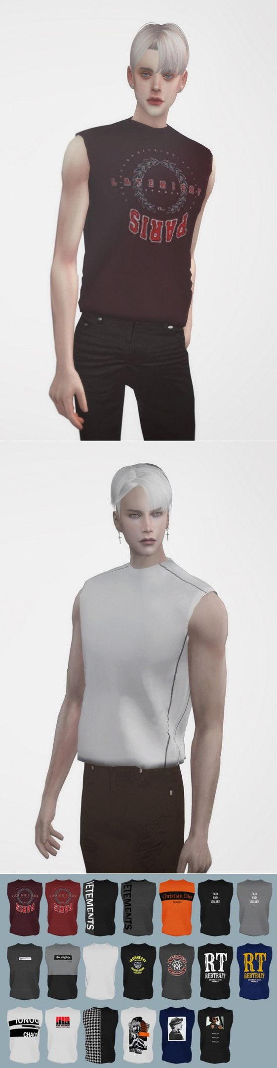 AM Sleeveless Tops by CALEB