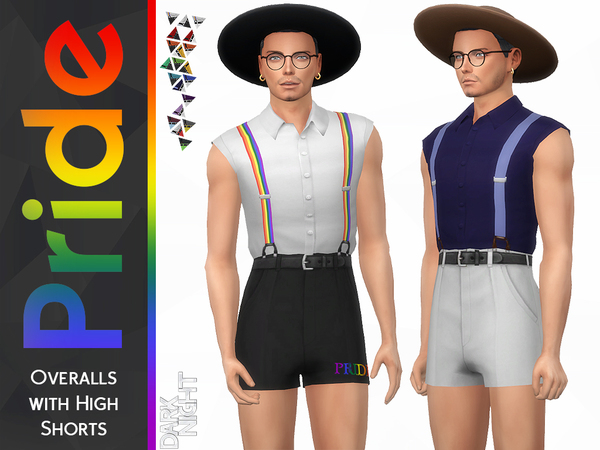 Pride Collection-Overalls with High Shorts by DarkNighTt