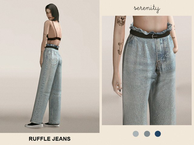 Ruffle Jeans by serenity
