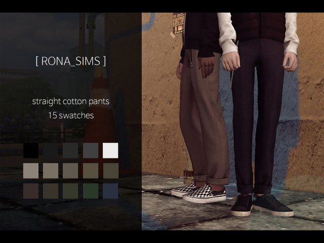 straight cotton pants by RONA
