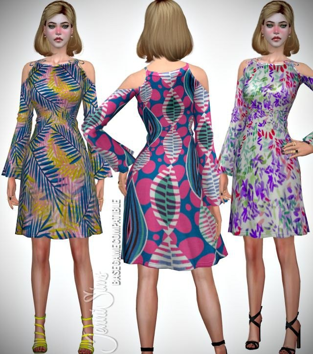 Base Game compatible Dress Flower by JenniSims