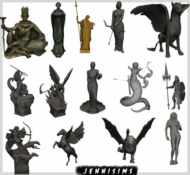 Trinket Statues (14Items) by JenniSims
