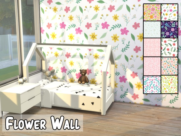Flower Wall by modelsims4