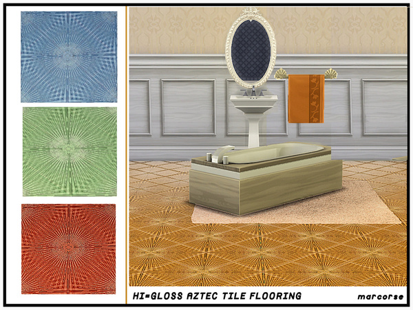 Hi-Gloss Aztec Tile Flooring by marcorse