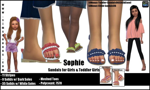 Sophie sandals by Sims4Nexus