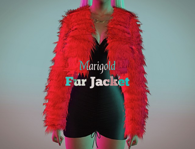 Marigold Fur Jacket (accessory) 4to3 by Nemiga