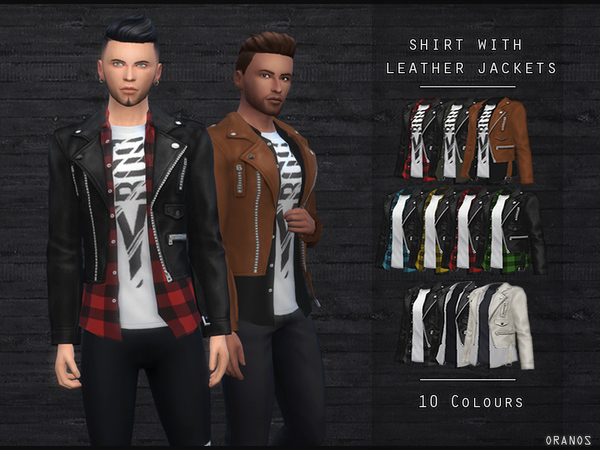 Shirt With Leather Jackets by OranosTR
