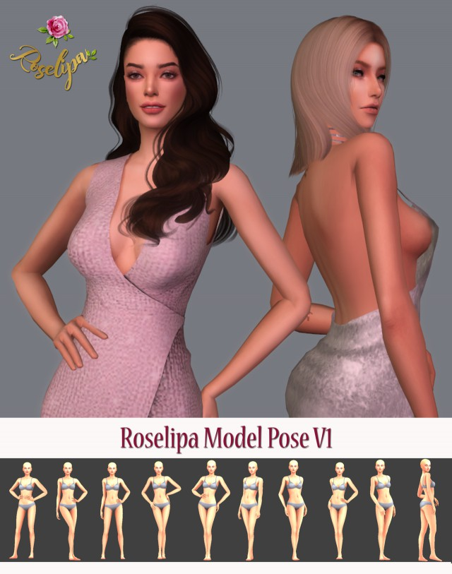 Model Pose V1 by Roselipa