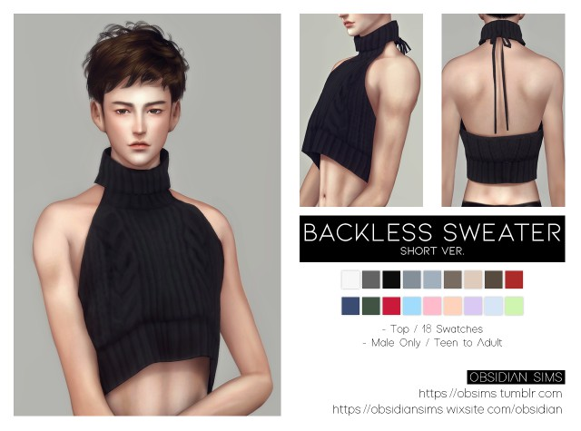 Backless Sweater (Short ver.) by OBSIDIAN