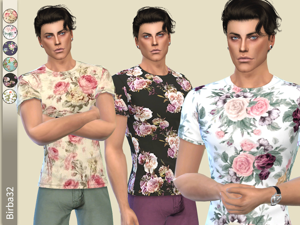 Floral T-shirt for man by Birba32