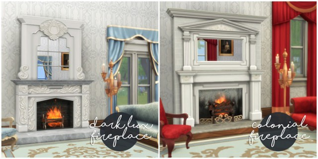 Dark_Lux_Fireplace + Colonial_Fireplace от HistoricalSimsLife