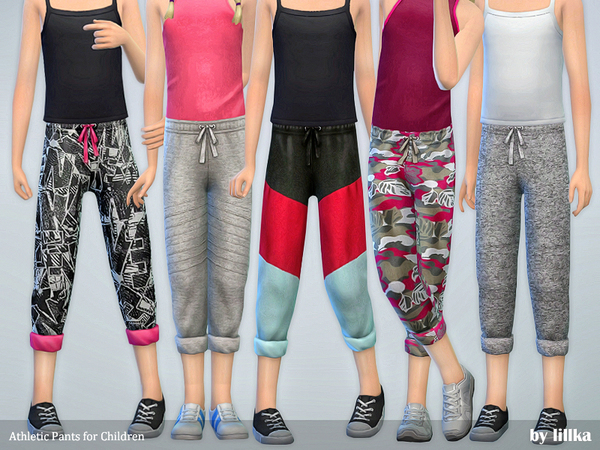 Athletic Pants for Children by lillka