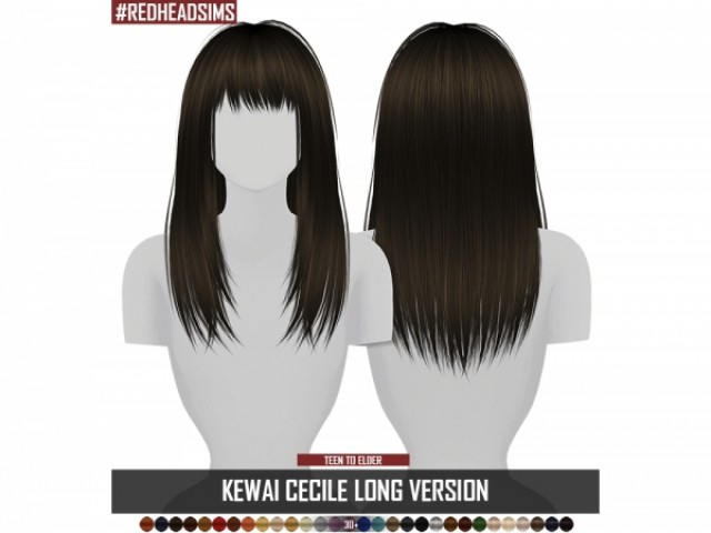 KEWAI CECILE LONG VERSION 3T4 by redheadsims