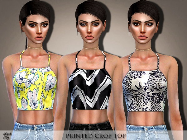 Printed Crop Top by Black Lily