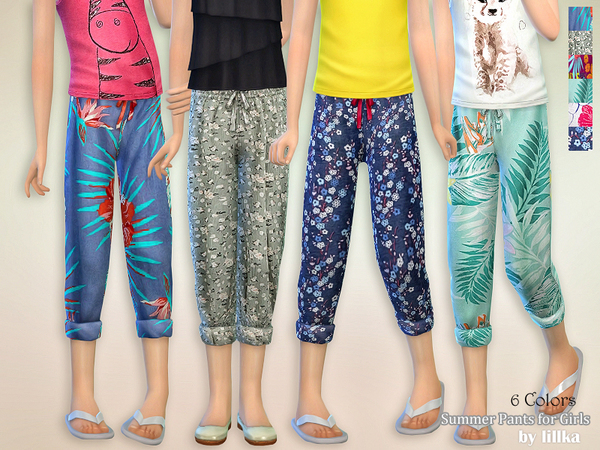 Summer Pants for Girls by lillka