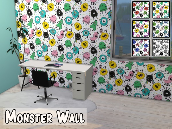 Monster Wall by modelsims4