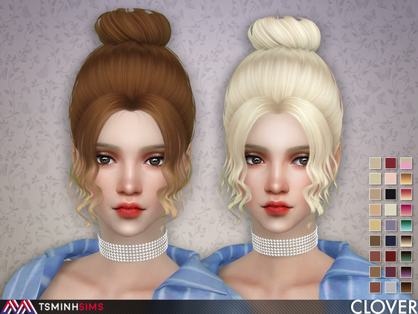Clover ( Hair 63 ) by TsminhSims