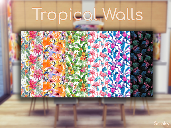 Tropical Walls by Sooky