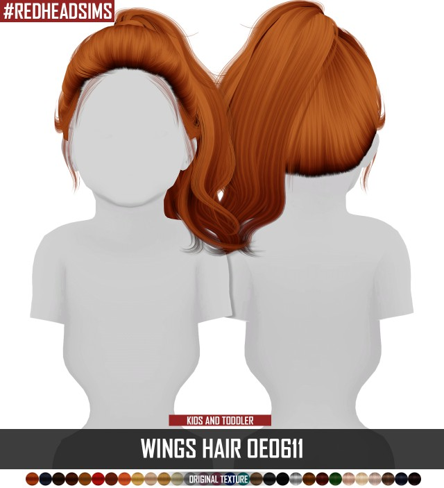 WINGS HAIR OE0611 - KIDS AND TODDLER VERSION by redheadsims