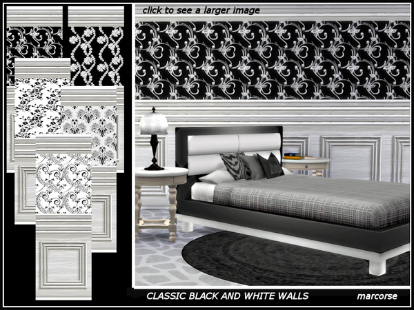 Classic Black and White Walls by marcorse