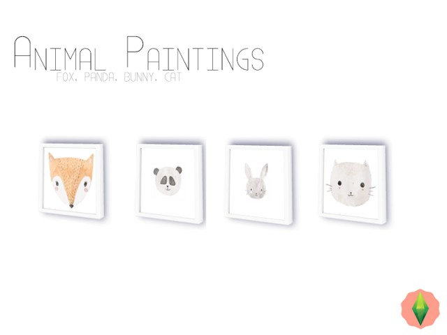 Animal Paintings by Modelsims4