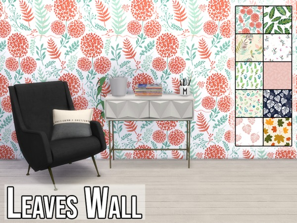 Leaves Wall by modelsims4